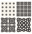 Seamless Black And White Rounded Ornaments vector image vector image