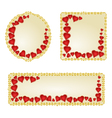 Banner and buttons Valentine day red hearts vector image