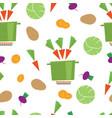 pattern kitchen vegetable casserole vector image