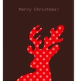 Christmas deer with pattern vector image vector image