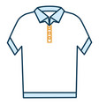 neck shirt isolated icon vector image