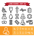 Line icons set 34 vector image
