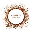 Brown - Coffee Abstract Circle Frame vector image