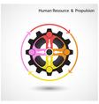Human resource icon abstract logo design vector image vector image
