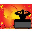 bodybuilder silhouette vector image