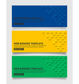 blue yellow and green square geometric texture vector image