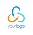 circle color orbit logo vector image