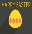 Flat easter egg with yellow wishes vector image