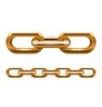 golden chain vector image