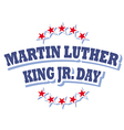 Martin Luther King Jr Day logo symbol vector image