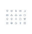 Office icons line vector image