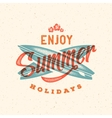 Retro Style Summer Card Emblem or a Logo vector image