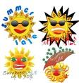 summer sale sun vector image