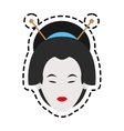 Isolated woman of china design vector image