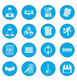 office teamwork icon blue vector image