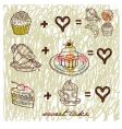 sweet cake vector image vector image