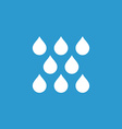 rain icon white on the blue background vector image