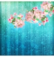 Spring Flowers Rain vector image vector image