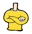 comic cartoon folded arms body vector image
