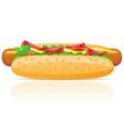 hotdog isolated on white background vector image