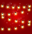Christmas Lights - festive carnival garland vector image