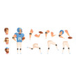 Baseball player constructor set vector image