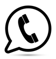 bubble with phone icon vector image
