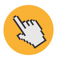 Hand mouse pointer icon vector image