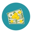 Money Dollar Cash Colorful Icon vector image
