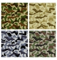 Set of Camouflage Patterns vector image