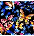 Watercolor butterfly seamless pattern vector image