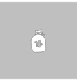 Yen bag computer symbol vector image