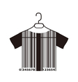 barcode T-shirt on cloth hanger vector image