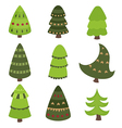 Set of Christmas tree vector image