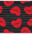 Print kisses lips background vector image vector image