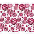 circle red beads on white background creative vector image