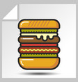 fast food icons 5 vector image