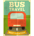 bus travel poster vector image