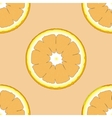 Seamless pattern with fresh ripe slice of orange vector image