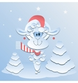 Blue Sheep Symbol 2015 vector image
