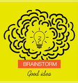 brainstorming creative good idea icon vector image