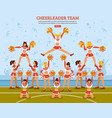 cheerleader team stadium flat poster vector image
