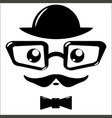 icon eyeglasses and mustaches vector image
