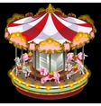 Merry-go-round with zebra and unicorn vector image