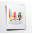Money business annual report concept with graph vector image