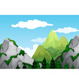 Nature scene with mountains at daytime vector image