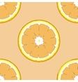 Seamless pattern with fresh ripe slice of orange vector image