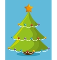 tree merry christmas and new year design isolated vector image