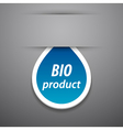 Bio product tag vector image vector image