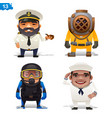 maritime professions vector image
